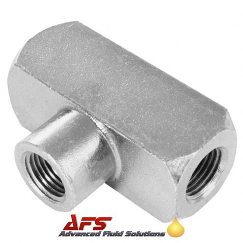 1/4 NPT Fixed Female 3 Way Tee Hydraulic Adaptor Fitting